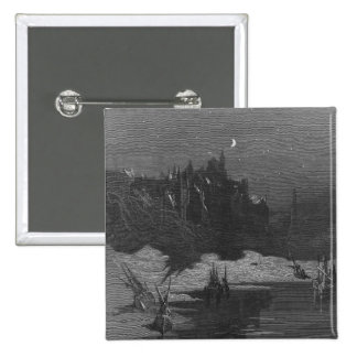 Scene from 'The Rime of the Ancient Mariner' 4 15 Cm Square Badge