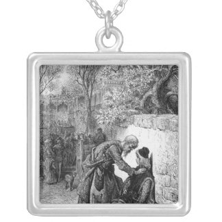 Scene from 'The Rime of the Ancient Mariner', Silver Plated Necklace