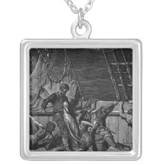 Scene from 'The Rime of the Ancient Mariner' Silver Plated Necklace
