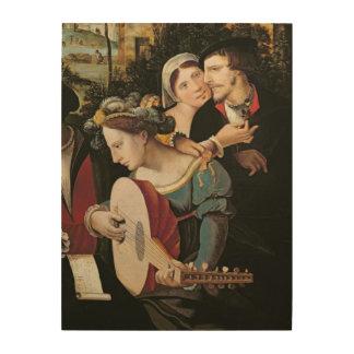 Scene Galante at the Gates of Paris Wood Canvas