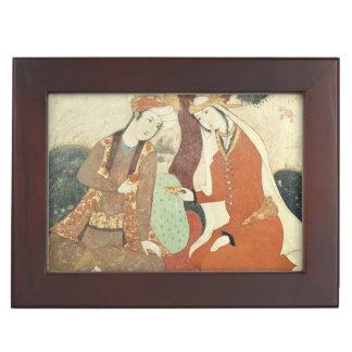 Scene galante from the era of Shah Abbas I Keepsake Box