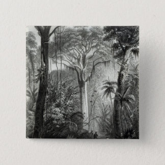Scene in a Brazilian Forest engraved by 15 Cm Square Badge
