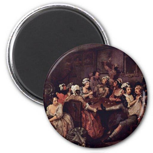 "Scene In A Tavern "" By Hogarth William Fridge Magnets"