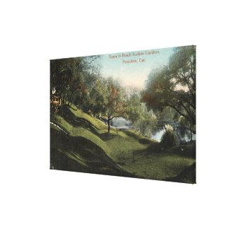 Scene in Busch Sunken Gardens Gallery Wrapped Canvas