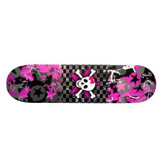 Scene Kid Girly Skull Skateboard Deck