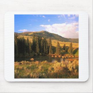 Scene Lamar Valley Yellowstone Wyoming Mousepad