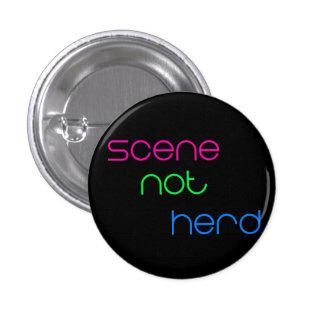 Scene Not Herd 3 Cm Round Badge