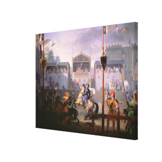 Scene of a Tournament in the Fourteenth Century, 1 Stretched Canvas Prints