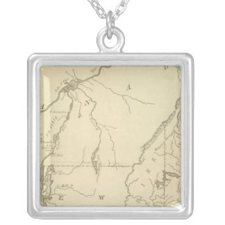 Scene of Operations of the Northern Army Silver Plated Necklace