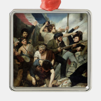 Scene of the 1830 Revolution Christmas Ornament