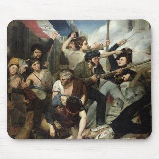 Scene of the 1830 Revolution Mouse Mat
