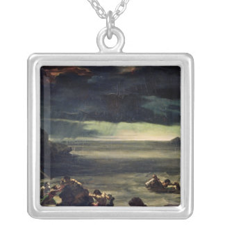 Scene of the Deluge, 1818-20 Silver Plated Necklace