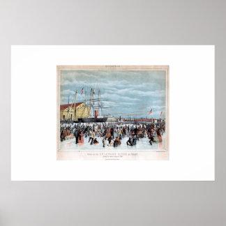 Scene on the Delaware River, 1856 Poster