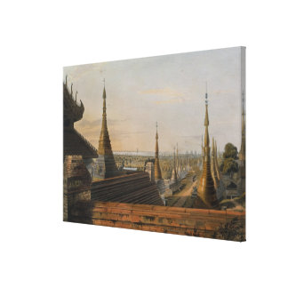 Scene upon the Eastern Road from Rangoon Looking T Canvas Print