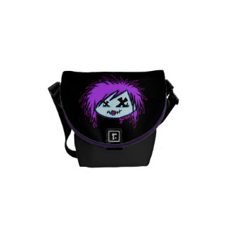 Scene Zombie (on dark background) Messenger Bags