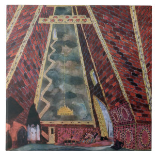 Scenery design for Thamar, 1912 (colour litho) Tile