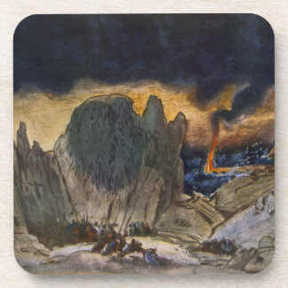 Scenery design from Phedre, 1917 (colour litho) Beverage Coaster