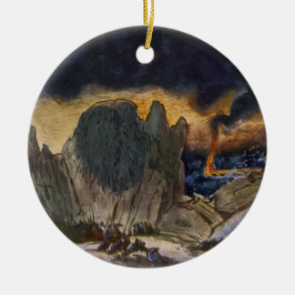 Scenery design from Phedre, 1917 (colour litho) Christmas Ornament