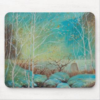 Scenery,Nature patterns,Oil painting landscap Mouse Mat