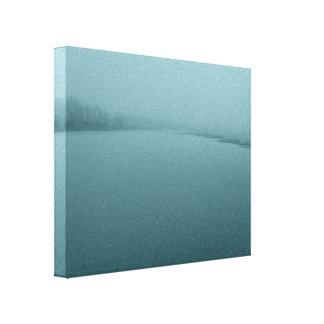 Scenery of frozen river Tornio Canvas Print