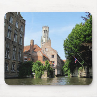 Scenery with water canal in Bruges, Belgium. Mouse Mat