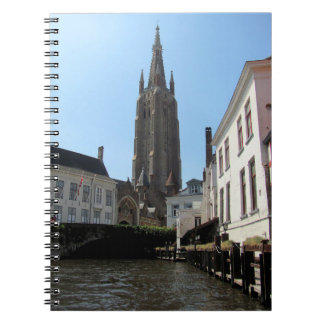 Scenery with water canal in Bruges, Belgium. Notebook