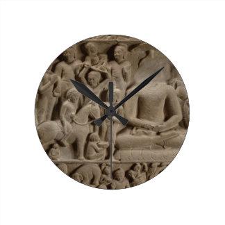 Scenes from Buddha's life, Sarnath, Uttar Pradesh Round Clock