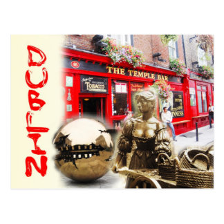 Scenes from Dublin, Ireland Postcard