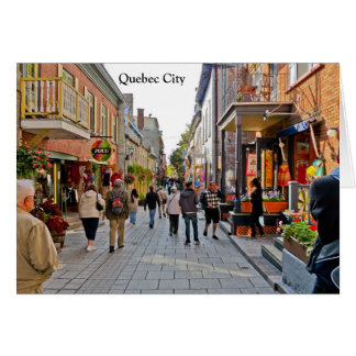 Scenes from Quebec City Card