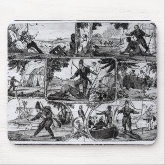 Scenes from 'Robinson Crusoe' by Daniel Defoe Mouse Mat