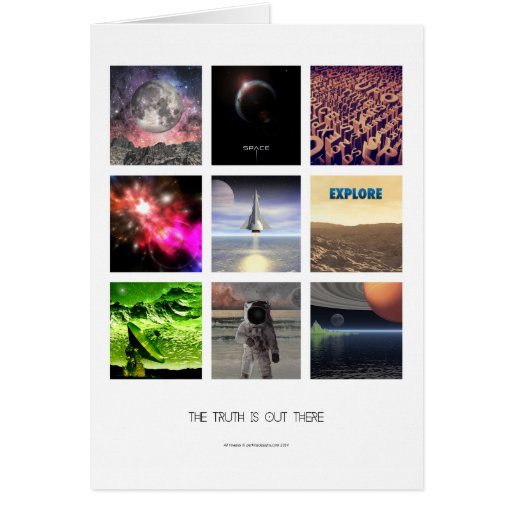 Scenes From Space Greeting Card