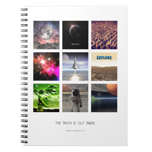 Scenes From Space Spiral Note Book