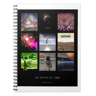 Scenes From Space Spiral Note Books