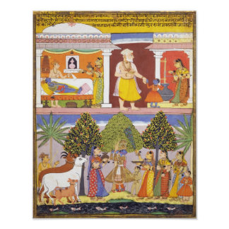 Scenes from the Childhood of Krishna Posters
