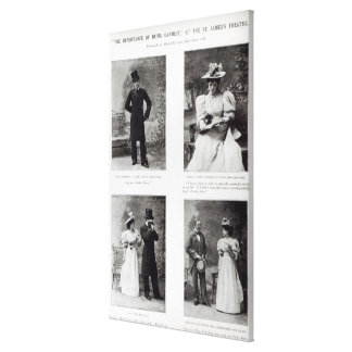 Scenes from The Importance of Being Earnest, by Os Canvas Print