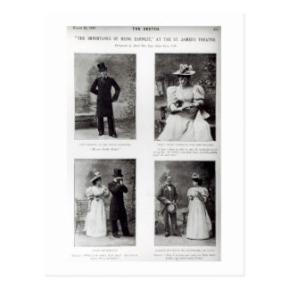 Scenes from The Importance of Being Earnest, by Os Postcard