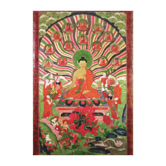 Scenes from the life of Buddha Canvas Print