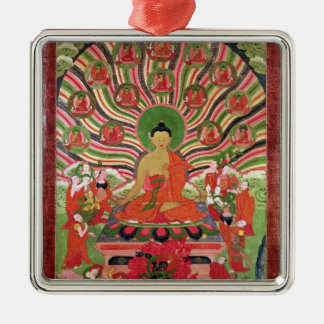 Scenes from the life of Buddha Christmas Ornament