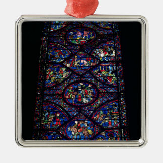 Scenes from the Life of Charlemagne (747-814) from Silver-Colored Square Decoration