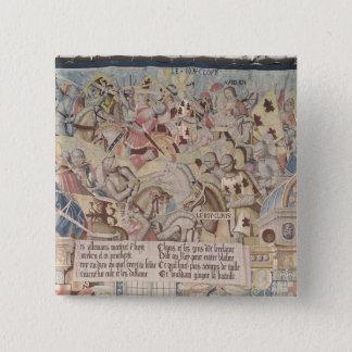 Scenes from the Life of St. Remegius 15 Cm Square Badge