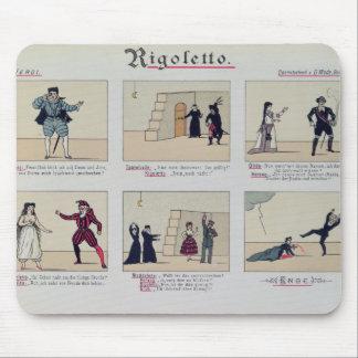 Scenes from the Opera Rigoletto Mouse Pad