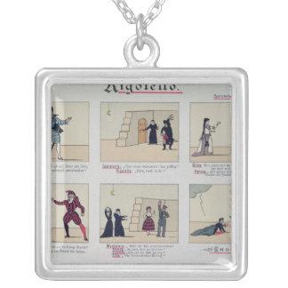 Scenes from the Opera 'Rigoletto' Silver Plated Necklace