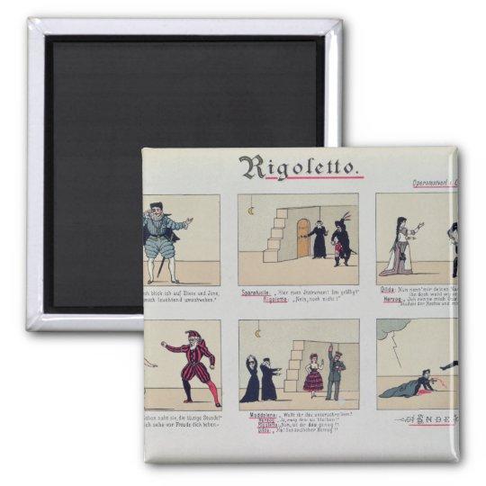 Scenes from the Opera 'Rigoletto' Square Magnet