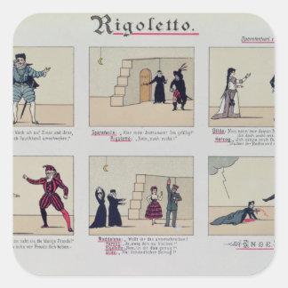 Scenes from the Opera 'Rigoletto' Square Sticker