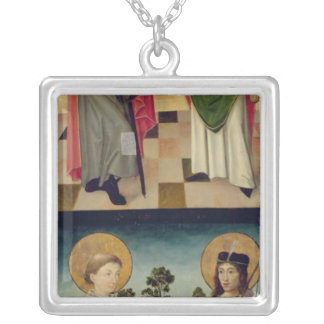 Scenes from the Passion and Saints Silver Plated Necklace