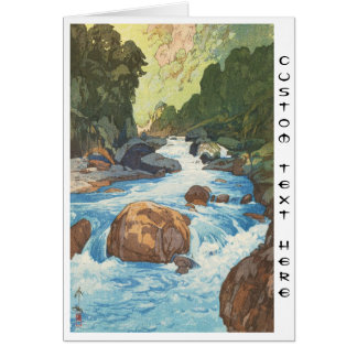 Scenes in the Japan Alps, Kurobe River Yoshida art Card