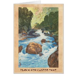 Scenes in the Japan Alps, Kurobe River Yoshida art Note Card