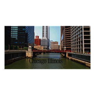 Scenes of Chicago Illinois Photo Greeting Card