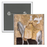 Scenes of courtly hawking 15 cm square badge