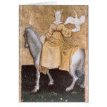 Scenes of courtly hawking greeting card